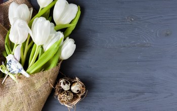 holiday,Bouquet,Easter,Весна,tulips,wood,White,spring,decoration