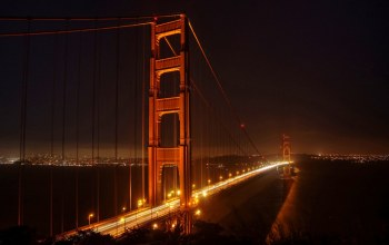 The Golden Gate Bridge,ночь,san francisco