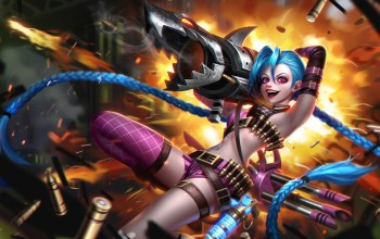 league of legends,улыбка,базука,Jinx,Loose Cannon