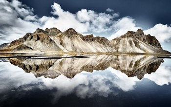 reflection,iceland,Vestrahorn Islande