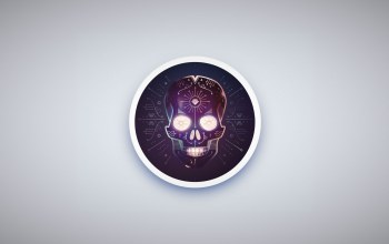 simple background,triangle,symbols,circle,minimalism,Skull