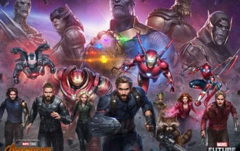 scarlet witch,star lord,groot,Future Fight,black widow,thanos,captain america,thor,rocket,war machine,Spider man,white wolf