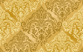 золотой,vector,with,seamless,damask,ornament,узор