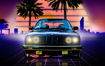 Синти,фары,synthpop,electronic,передок,Retrowave,Синти-поп,Darkwave,музыка,неон,synthwave,Synth pop,Synth,Bmw