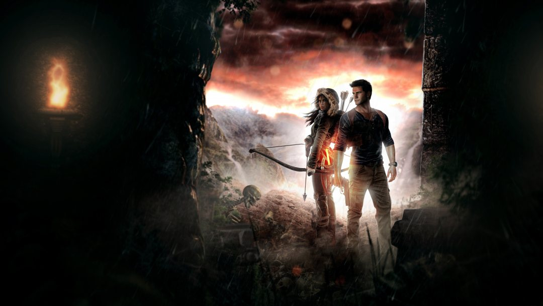 crystal dynamics,Xbox,square enix,lara croft,Uncharted 4: A Thief's End,tomb raider,crossover,action adventure,Sony playstation,nathan drake,sony,naughty dog,uncharted,rise of the tomb raider