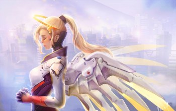 mercy,game,blizzard entertainment,overwatch