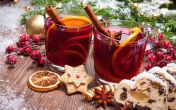 wine,Глинтвейн,merry christmas,orange,cookies,decoration,рождество,tea,punch