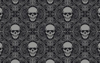 gray,skull tiles,Skull,background