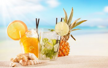 коктейль,фрукты,cocktail,tropical,beach,fruit,summer,paradise,drink