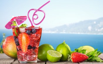 фрукты,beach,paradise,tropical,fruit,коктейль,drink,summer,cocktail