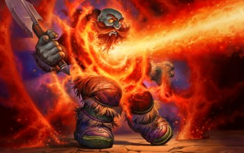 Hearthstone,Lava Shock,Лавовый шок,дворф,wow,Blackrock Mountain,world of warcraft,магия,топор,карта