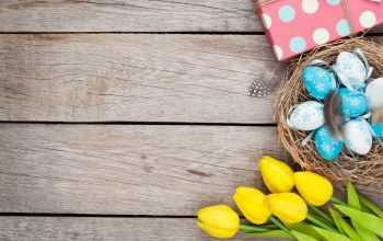 happy,decoration,tulips,spring,eggs,Easter,yellow,wood,tender