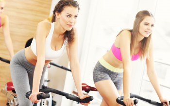 Fixed bicycle,workout,Women