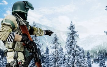 Battlefield IV,weapon,uniform,forest,game,rifle,snow,soldier,Battlefield 4,gun,battlefield,seifuku