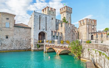europe,Верона,Sirmione,italy,Scaliger,travel,view,Cityscape,замок