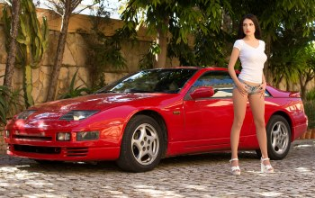 girl,300zx,Red