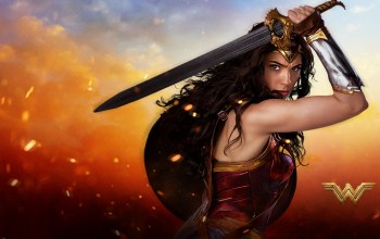 Themyscira,fire,shield,flame,Batman v superman dawn of justice,gauntlet,sword,gal gadot,cinema,armor,League of Justice,spark,dc comics,blade,wonder woman,movie,film,brunette