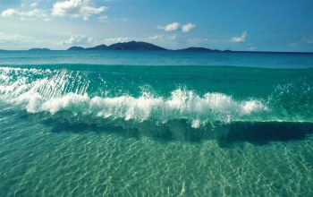 blue,waves,clear,water