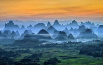 mountains,china,misty,landscape