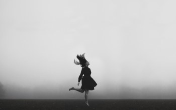 girl,hair,misty,foggy,dress