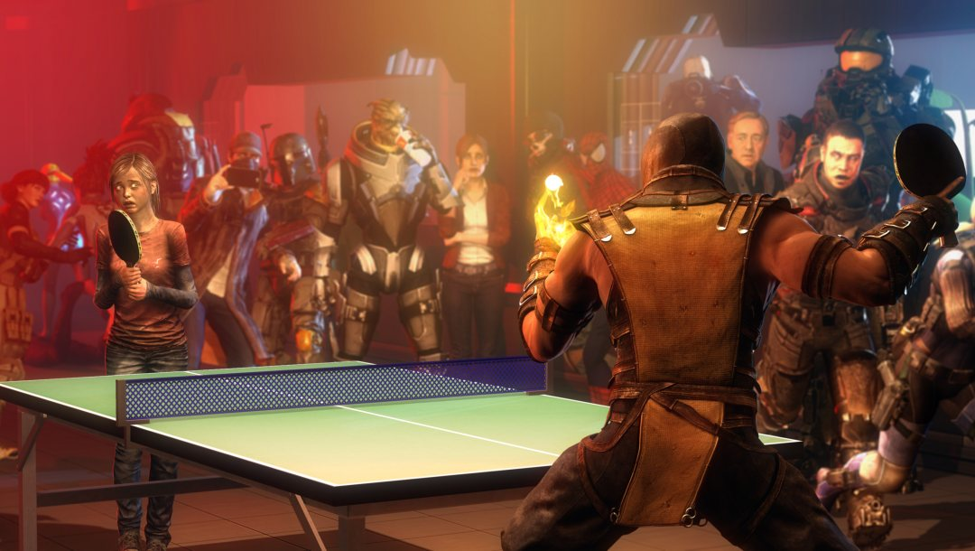 mass effect,The last of us,Dead space,crossover,Ping Pong,watch dogs,Mortal kombat,turian,John Carver,Resident evil,master chief,garrus vakarian,Aiden pearce,Ellie,claire redfield,kevin spacey,scorpion