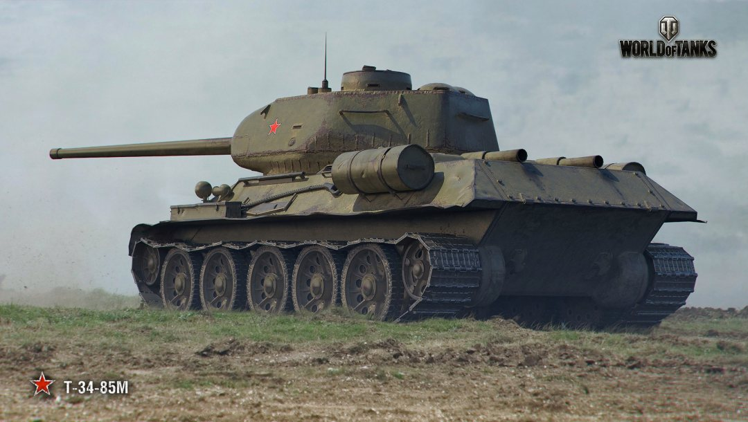 Т-34-85М,wot,World of tanks,советский танк,wargaming