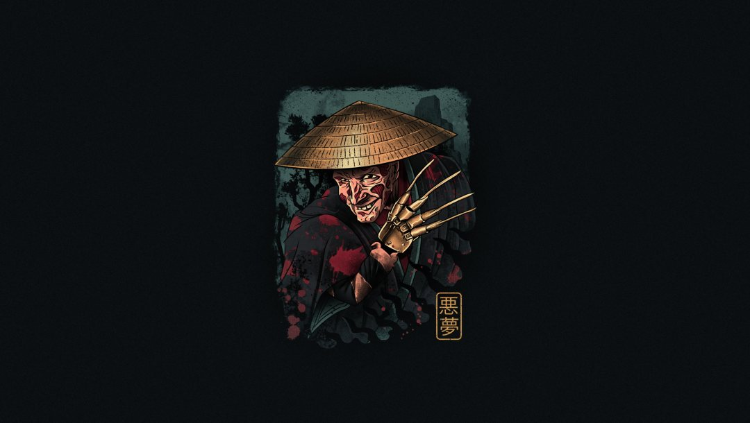 Dreamer,Фредди крюгер,Samurai Dreamer in ukiyo-e inspired design,Укиё-э,ukiyo-e,by Vincenttrinidad,The Samurai Dreamer,The Samurai,freddy krueger,Vincenttrinidad