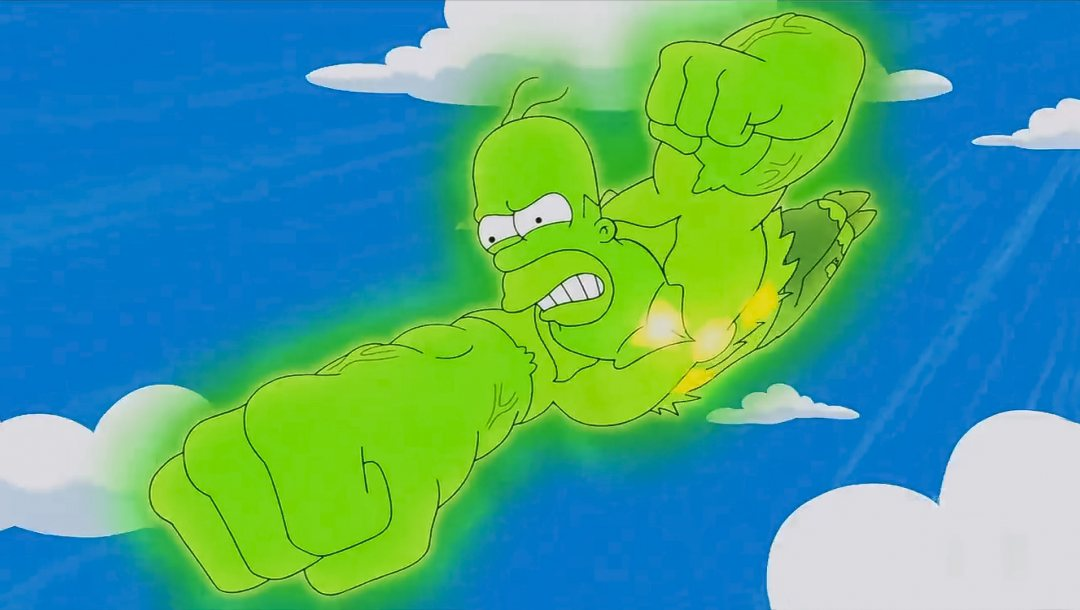 Homer simpson,fly,cartoon,Radiation