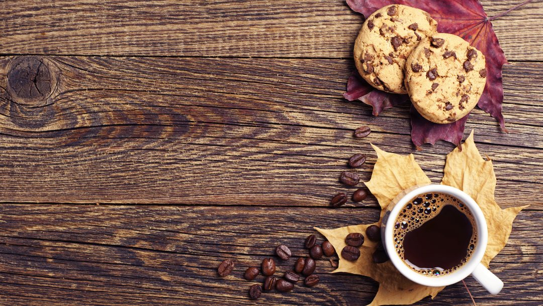 autumn,осень,cup of coffee,fall,book,cookies,кофе,leaves,wood
