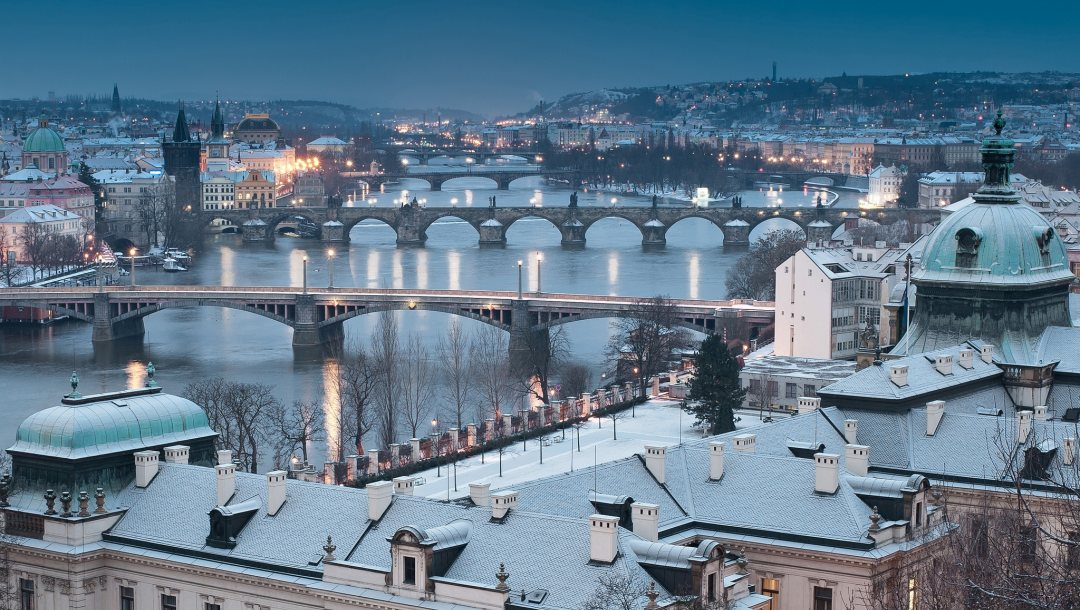 Cityscape,czech republic,winter,prague