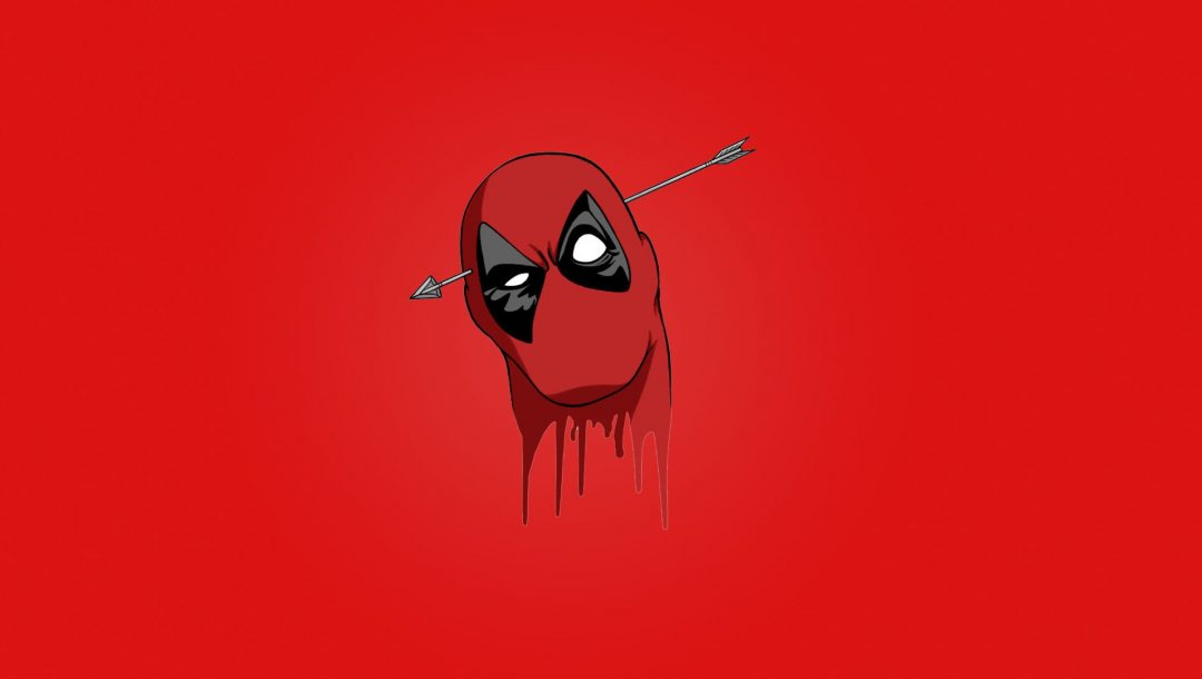 Deadpool,Marvel comics,blood,mask,wade wilson,arrow,head,Red