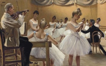 Paul Gustav Fischer,Королевская театральная балетная школа,1889,The Royal Theatre Ballet School,копенгаген,Danish painter,датский живописец,copenhagen,Поль Густав Фишер