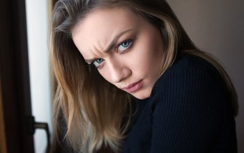 feeling,frowning,girl,photographer,Face,anger,blue eyes,Dmitry sn,mood,angry