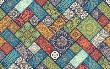 colorful,Floral,diagonal,tiles,vintage