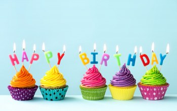 cream,Cupcake,decoration,celebration,cake,candle,крем,happy birthday,rainbow,день рождения,Colours,colorful,кексы