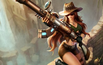 weapon,caitlyn,glasses,Кейтлин,пушка,Лига Легенд,очки,Hat,game,riot games,gun,girl,шортики,league of legends,прицел,hair,шорты,shorts