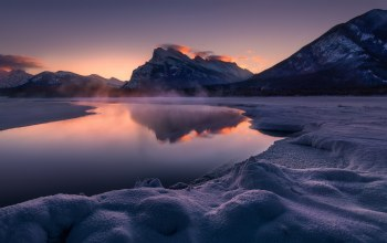 Banff,mt rundle,Vermillion Lakes,canada