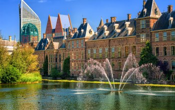Голландия,фонтаны,нидерланды,гаага,Binnenhof palace,The hague