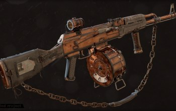 post apocalypse,Штурмовая винтовка,custom,weapon,kalashnikov,Акм,пост апокалипсис,gun,assault rifle