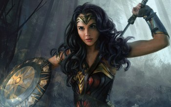 fantasy art,paintig,fantasy,paiting art,wonder woman,artwork,sword,superhero,gal gadot,dc comics,weapons,shield