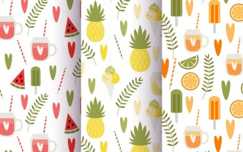фрукты,pineapple,лето,juice,patterns,fruit,summer,leaves,vintage