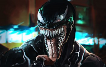 sony,зубы,Веном,cinema,комиксы,film,Эдди Брок,tongue,симбиот,teeth,eddie brock,рисунок,eyes,comics,кино,symbiote,movie,язык