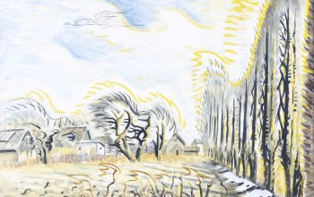 February Wind and Sunlight,The Wind Harp,1947-57,Charles Ephraim Burchfield