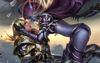 sylvanas windrunner,world of warcraft,Anduin Wrynn
