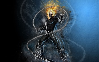 fire,fantasy,flames,comics,chain,Skull,artwork,superhero,digital art,Ghost rider,fantasy art