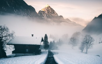 mist,morning,mountain,alps,Switzerland