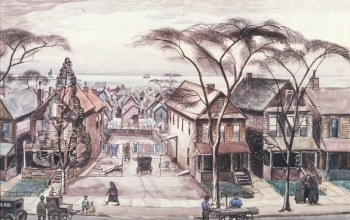 1927-28,Little Italy in Spring,Charles Ephraim Burchfield