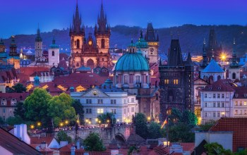 башни,prague,czech republic,дома,praga,здания,чехия,крыши