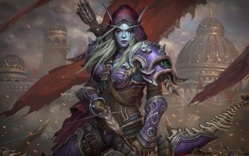 World of Warcraft,game art,Eric Braddock,Dark Lady Sylvanas Windrunner,близзард,sylvanas,characters,by Eric Braddock,warcraft,illustration