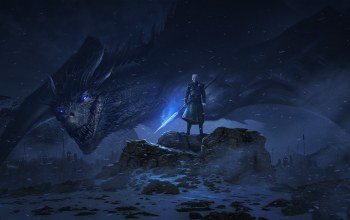 The Night King, дракон,Game Of Thrones,serial,арт